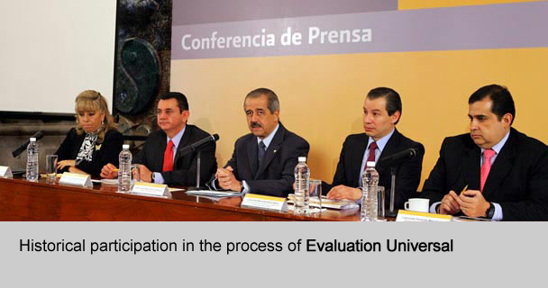 Historical participation in the process of Evaluacion Universal