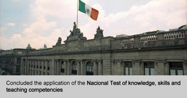 Concluded the application of the National Test of knowledge, skills and teaching competencies
